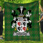 1stScotland Premium Quilt - Donegan Or O'Donagan Irish Family Crest Quilt - Irish National Tartan A7