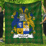1stScotland Premium Quilt - Mcgrail Irish Family Crest Quilt - Irish National Tartan A7
