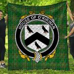 1stScotland Premium Quilt - House Of O'Kirwan Irish Family Crest Quilt - Irish National Tartan A7