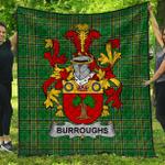 1stScotland Premium Quilt - Burroughs Irish Family Crest Quilt - Irish National Tartan A7