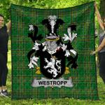 1stScotland Premium Quilt - Westropp Irish Family Crest Quilt - Irish National Tartan A7