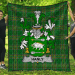 1stScotland Premium Quilt - Hanly Or O'Hanley Irish Family Crest Quilt - Irish National Tartan A7