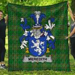 1stScotland Premium Quilt - Meredith Irish Family Crest Quilt - Irish National Tartan A7