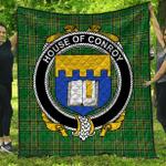 1stScotland Premium Quilt - House Of Conroy (O'Mulconry) Irish Family Crest Quilt - Irish National Tartan A7