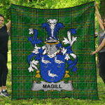 1stScotland Premium Quilt - Magill Irish Family Crest Quilt - Irish National Tartan A7