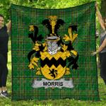 1stScotland Premium Quilt - Morris Irish Family Crest Quilt - Irish National Tartan A7