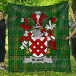 1stScotland Premium Quilt - Blake Irish Family Crest Quilt - Irish National Tartan A7