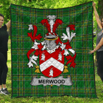 1stScotland Premium Quilt - Merwood Irish Family Crest Quilt - Irish National Tartan A7