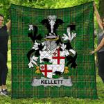 1stScotland Premium Quilt - Kellett Irish Family Crest Quilt - Irish National Tartan A7