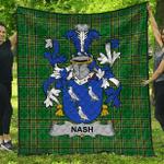 1stScotland Premium Quilt - Nash Or Naish Irish Family Crest Quilt - Irish National Tartan A7