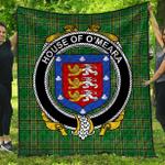 1stScotland Premium Quilt - House Of O'Meara Irish Family Crest Quilt - Irish National Tartan A7