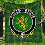1stScotland Premium Quilt - House Of O'Connor (Kerry) Irish Family Crest Quilt - Irish National Tartan A7