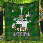 1stScotland Premium Quilt - Callaghan Or O'Callaghan Irish Family Crest Quilt - Irish National Tartan A7