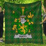 1stScotland Premium Quilt - Duffy Or O'Duffy Irish Family Crest Quilt - Irish National Tartan A7
