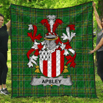 1stScotland Premium Quilt - Apsley Irish Family Crest Quilt - Irish National Tartan A7