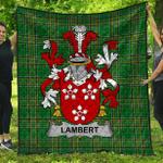 1stScotland Premium Quilt - Lambert Irish Family Crest Quilt - Irish National Tartan A7