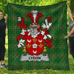 1stScotland Premium Quilt - Lydon Or Leyden Irish Family Crest Quilt - Irish National Tartan A7