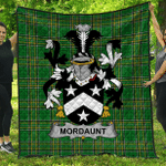 1stScotland Premium Quilt - Mordaunt Irish Family Crest Quilt - Irish National Tartan A7