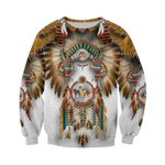 1st Iceland Wolf Native American Sweatshirt TH12 - 1st Iceland