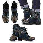 1stIceland Viking Leather Boots, Helm Of Awe Horn Of Odin Runes K5 - 1st Iceland