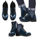 1stIceland Viking Leather Boots, Yggdrasil Vegvisir Valkyrie Wings A6 - 1st Iceland