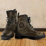 1stIceland Viking Leather Boots, Helm Of Awe Fenrirs Skoll And Hati K7 - 1st Iceland