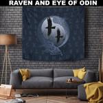 1stIceland Viking Tapestry , Odin's Eye Ravens Runes A7 - 1st Iceland