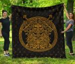1stIceland Viking Premium Quilt, Odin Norse Mythology Fenrirs Rune A79 - 1st Iceland