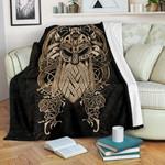 1stIceland Viking Premium Blanket, Odin Norse Mythology K4 - 1st Iceland