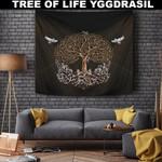 1stIceland Viking Tapestry, Yggdrasil Odin's Ravens A7 - 1st Iceland