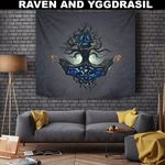 1stIceland Viking Tapestry, Yggdrasil Mjolnir Thor's Hammer A7 - 1st Iceland