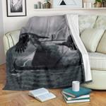 1stIceland Viking Raven Premium Blanket, Odin's Raven Drakkar Mjolnir K4 - 1st Iceland