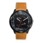 1stIceland Viking Leather/Steel Watch, Odin's Raven Valknut A0 - 1st Iceland