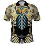 1stIceland Native American Polo Shirt Tailed Hawk Dreamcatcher - Black K36
