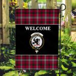 ScottishShop Little Flag - Welcome Tartan Day Garden Flag - aC
