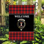 ScottishShop Robertson Flag - Welcome Tartan Day Garden Flag - aC