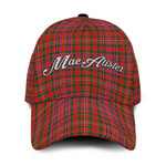 ScottishShop MacAlister Classic Cap - MacAlister Text Embroidery Hat - Ac