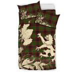 ScottishShopTartan Buchan Modern Bedding Set Scotland Lion - Thistle Map