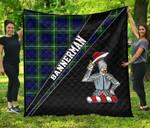 ScottishShop Bannerman Premium Quilt - Bannerman Clan Cross Style - aC