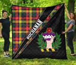 ScottishShop Buchanan Premium Quilt - Buchanan Clan Cross Style - aC
