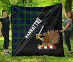 ScottishShop Bannatyne Premium Quilt - Bannatyne Clan Cross Style - aC
