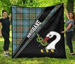 ScottishShop Brisbane Premium Quilt - Brisbane Clan Cross Style - aC