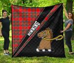 ScottishShop Binning of Wallifoord Premium Quilt - Binning Clan Cross Style - aC