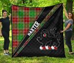ScottishShop Baxter Premium Quilt - Baxter Clan Cross Style - aC