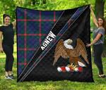 ScottishShop Agnew Premium Quilt - Agnew Clan Cross Style - aC
