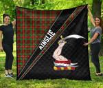 ScottishShop Ainslie Premium Quilt - Ainslie Clan Cross Style - aC