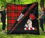 ScottishShop Brodie Premium Quilt - Brodie Clan Cross Style - aC