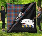 ScottishShop Bethune Premium Quilt - Bethune Clan Cross Style - aC