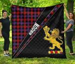 ScottishShop Broun Premium Quilt - Broun Clan Cross Style - aC