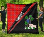 ScottishShop Burnett Premium Quilt - Burnett Clan Cross Style - aC